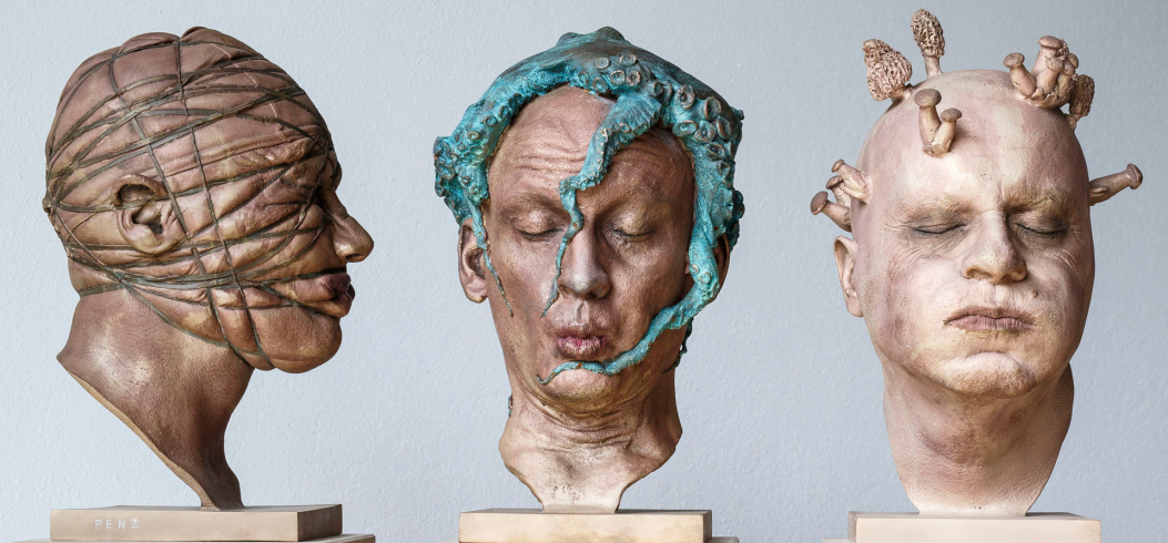"""Heads"" - sculptures by Philipp Penz - www.philipppenz.com"