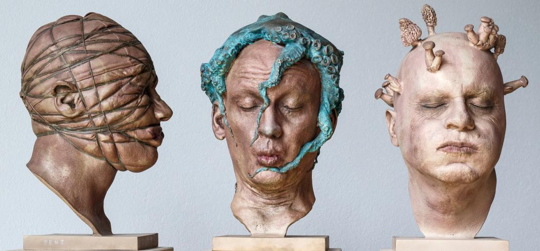 """Heads"" - sculptures by Philipp Penz - www.philipppenz.com"