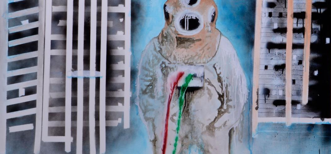 """Loner"" - painting by Philipp Penz - www.philipppenz.com"